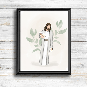 Christ With One Angel Baby- Instant Download - Kierra B Art