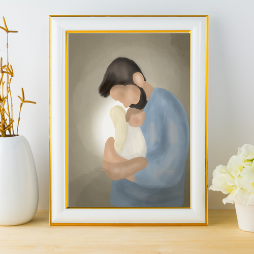 Father To An Angel (Instant Download) - Kierra B Art