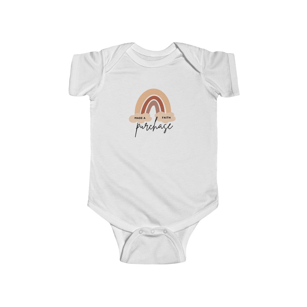Made A Faith Purchase Onesie