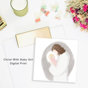 Christ with Infant- Miscarriage Portrait - Kierra B Art