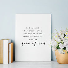 Load image into Gallery viewer, Face Of God- Infant Loss Print - Kierra B Art