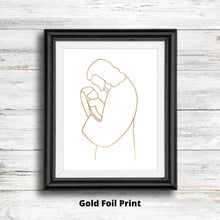 Load image into Gallery viewer, Gold Foil Christ With Infant Print - Kierra B Art