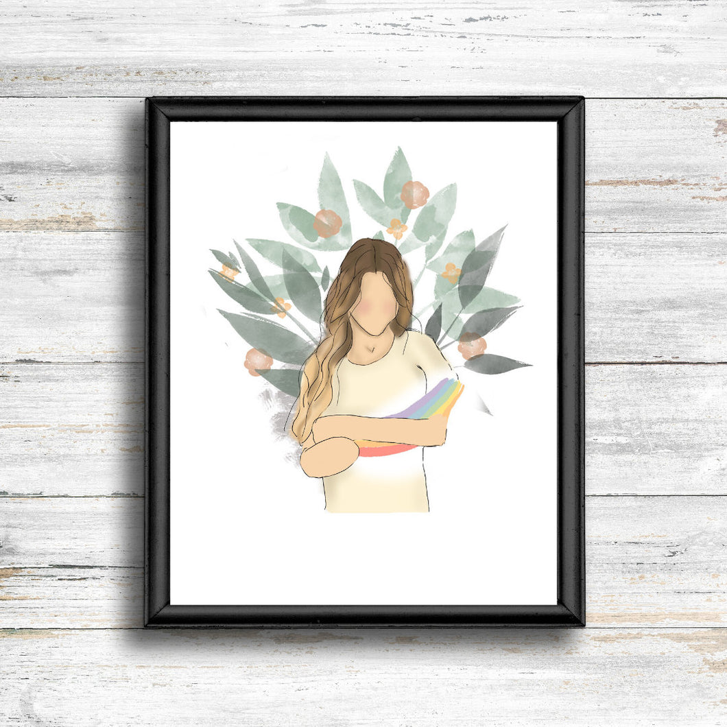 Holding Onto Hope Print - Kierra B Art
