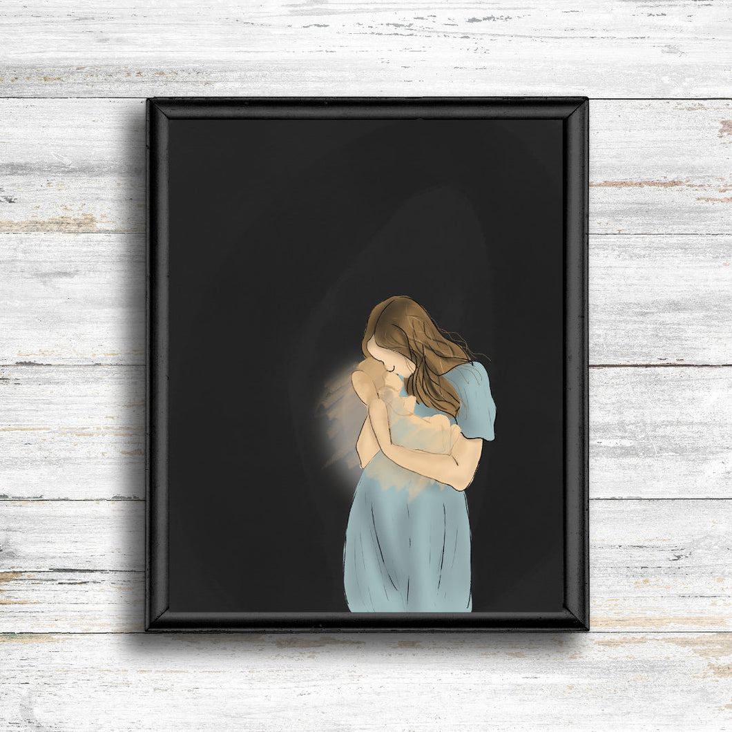 Miscarriage Portrait - Kierra B Art