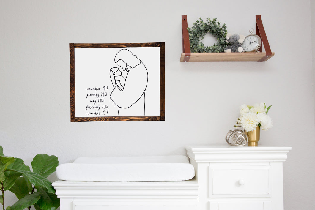 Christ + Angel Wood Sign - Kierra B Art