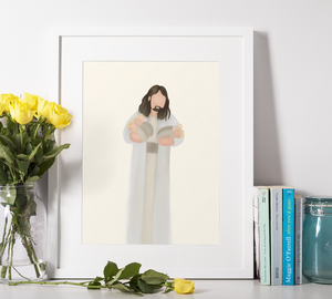Christ With Angel Baby Print | Five Angels