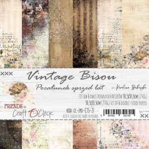 Craft O'Clock Vintage Bisou Kit 12x12