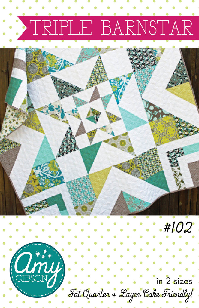 Triple Barnstar Quilt Paper Pattern Wholesale