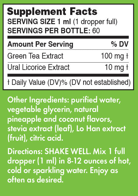 Pure Inventions Green Tea Extract Pineapple Coconut Water Infusion Drops