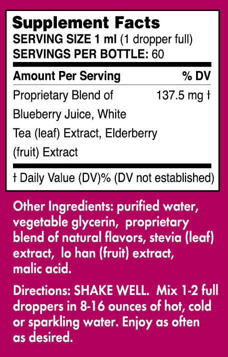 Pure Inventions Blueberry + White Tea Water Infusion Drops