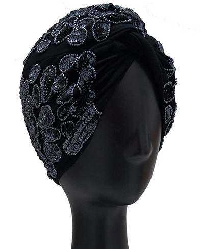 Leona - Navy Turban Hat