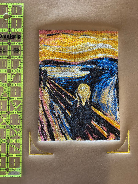 Embroidery The Scream from Edward Munch to HANG ON THE WALL