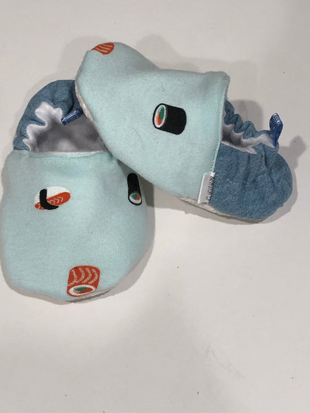 soft-soled crib shoe denim sushi size 12-18 months