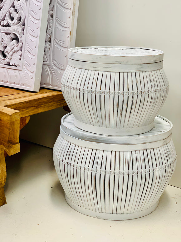 WHITE LANTERN BASKETS