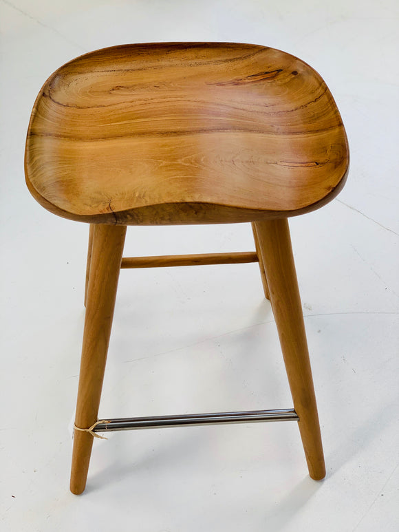 SOLID TEAK BAR STOOL