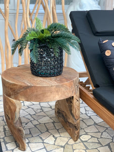 ORGANIC TEAK SIDE TABLE