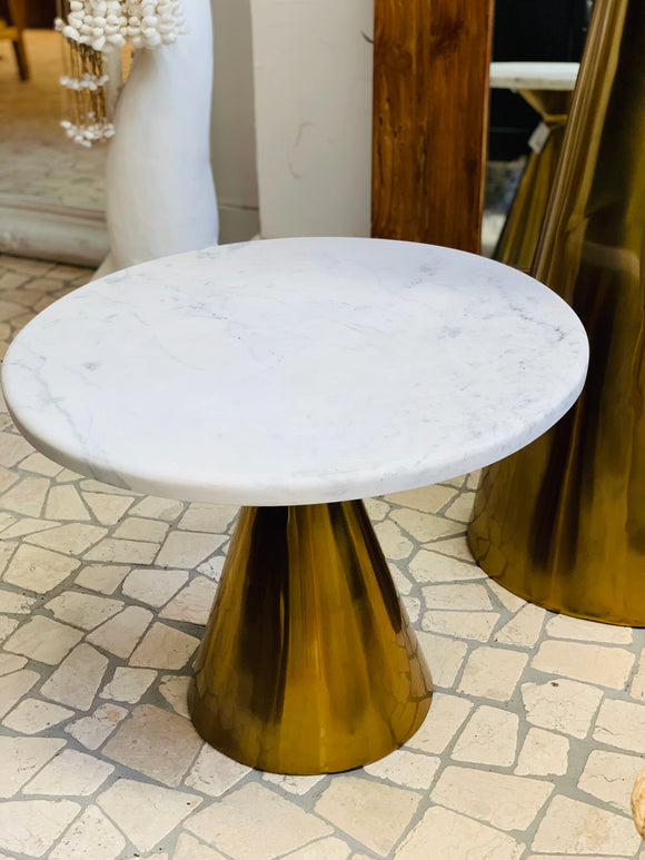 MARBLE PALAZO SIDE TABLE