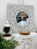 CARVED MANDELA WALL ART MIRROR