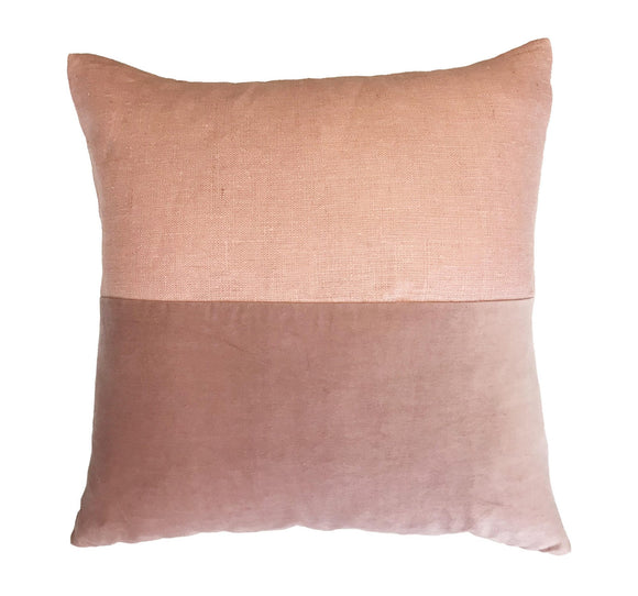 DUST ROSE BLOCK CUSHION