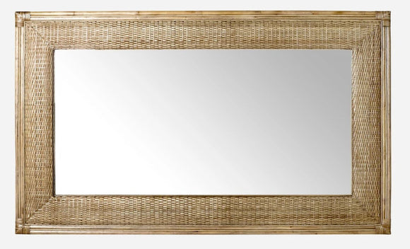 SANDY DAYS RATTAN MIRROR