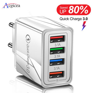 4-Port Multi USB Wall Charger