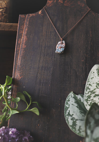 Blue Apatite / Antique Copper - LovelyOdds