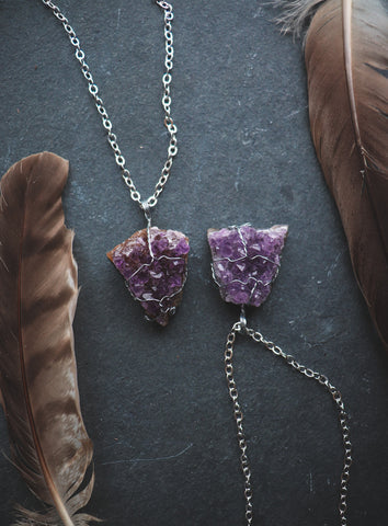 Amethyst / Silver - LovelyOdds