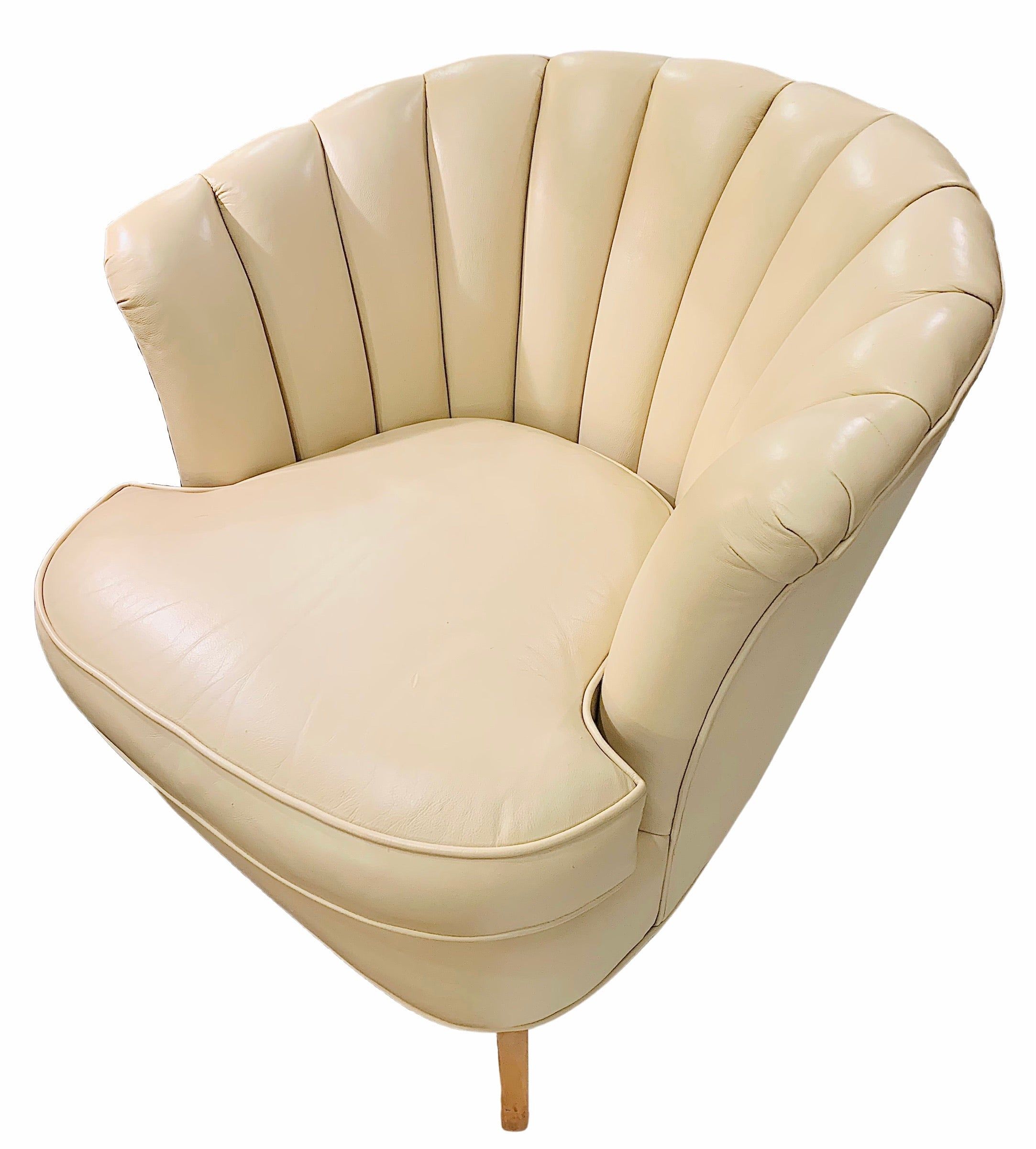 """Jamar Tongue"" Cream Chairs"