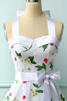 Print Pin Up Halter Vintage Jurk