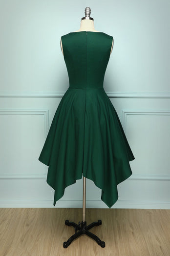 Dark Groen Vintage Dress - ZAPAKA