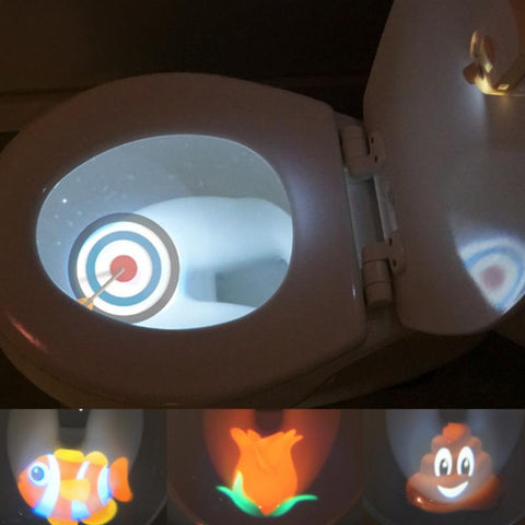 Motion Sensor Toilet Seat Lighting