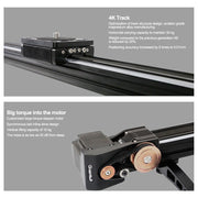 "ALUMOTECH X6 59"" Electronic Control Track Dolly Slider Rail"