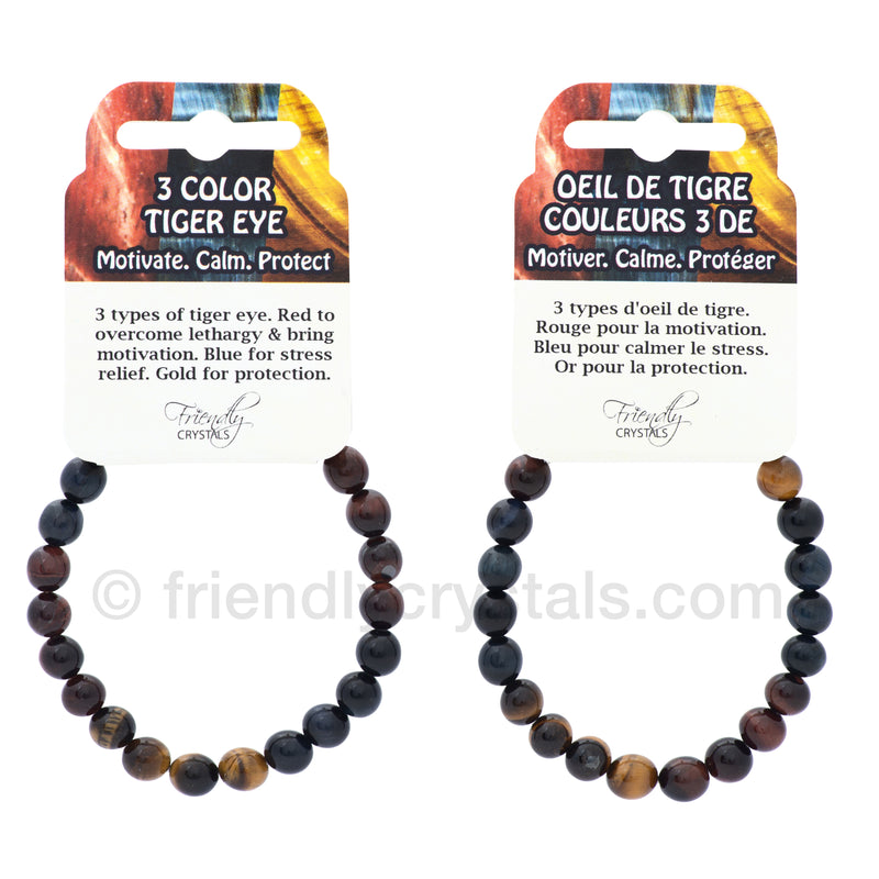 Tiger Eye 3 Coloured Power Bracelet