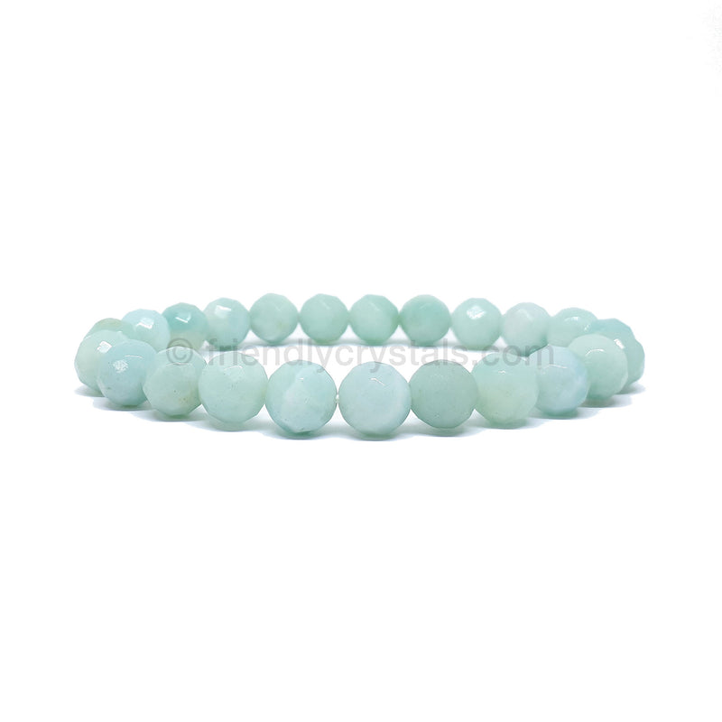 Amazonite Faceted Power Bracelet (8mm)