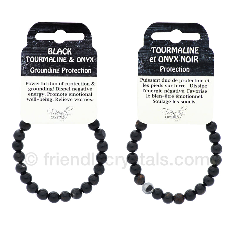 Black Tourmaline & Onyx Power Bracelet