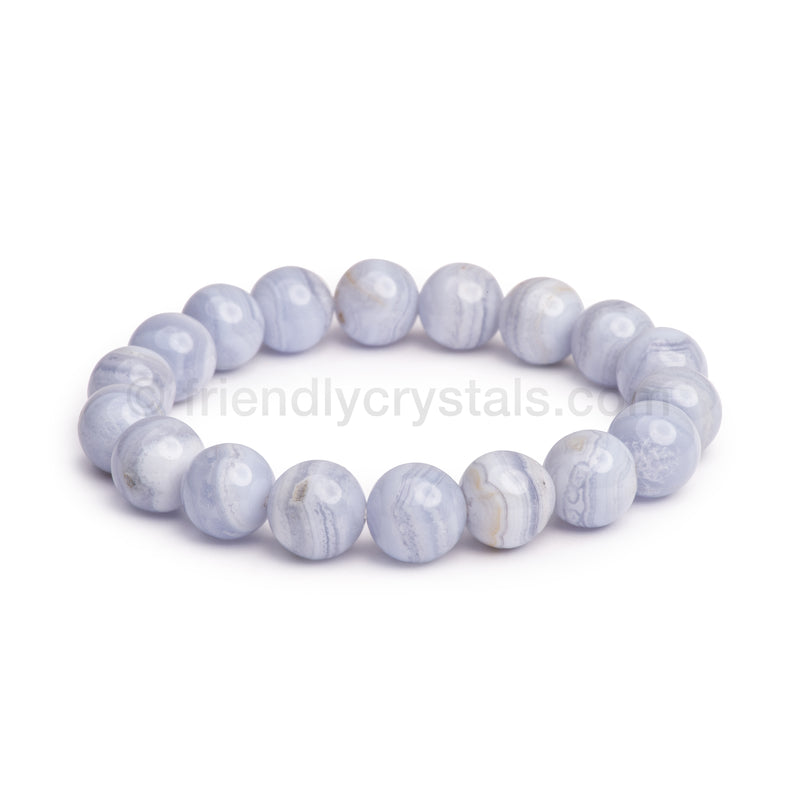 Blue Lace Agate Large Power Bracelet (12 mm)