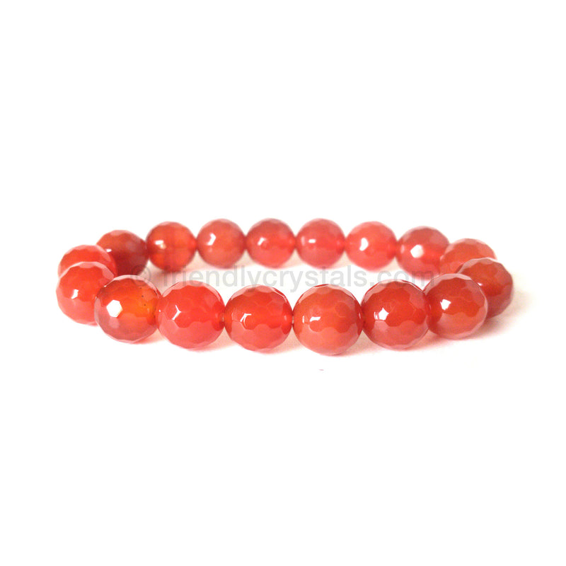 Carnelian Faceted Power Bracelet (10 mm)