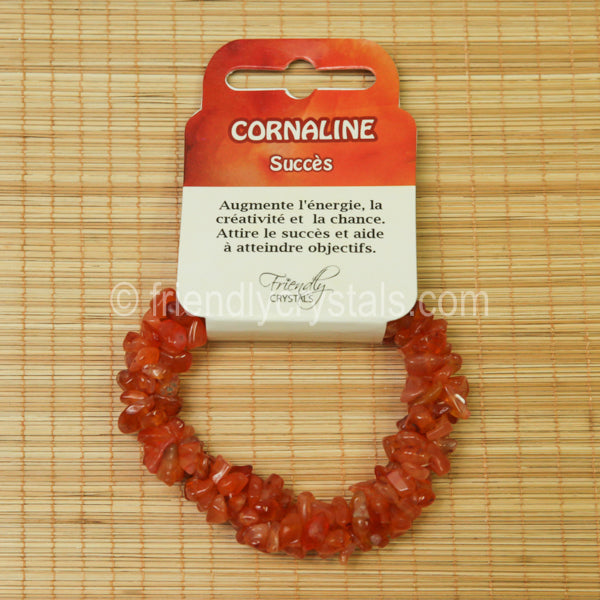 Carnelian Chip Stretch Bracelet