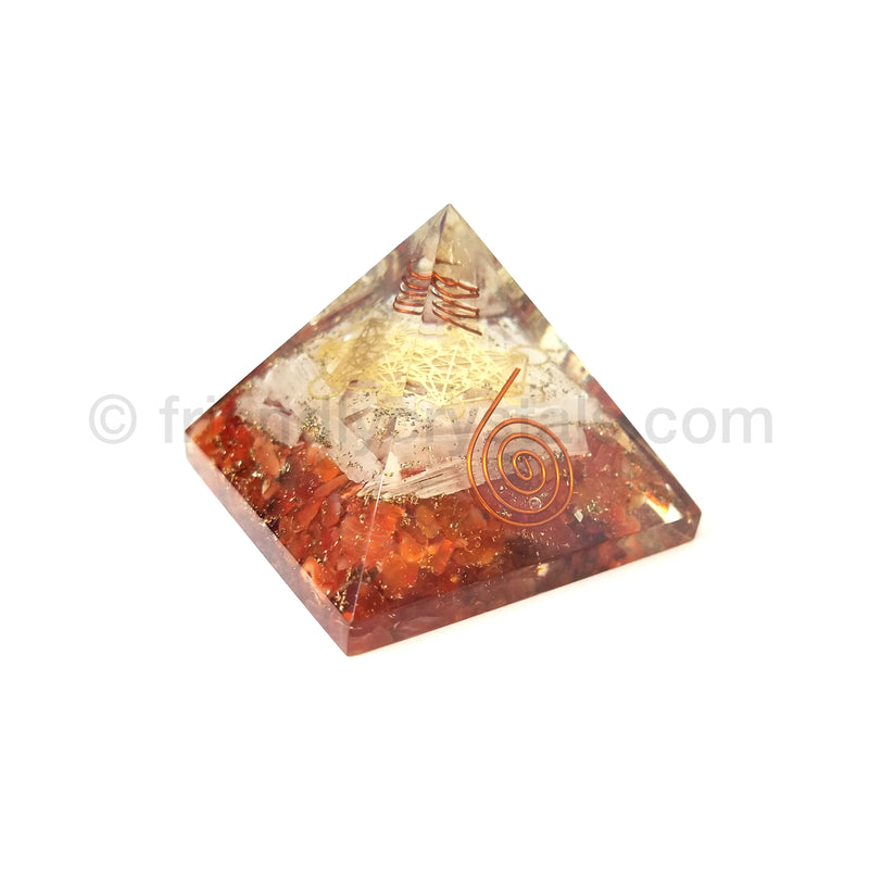 Carnelian Metatron Pyramid 75-80 mm