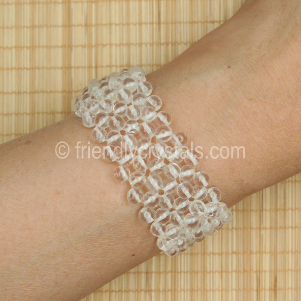 Quartz Beaded Bracelet Broad