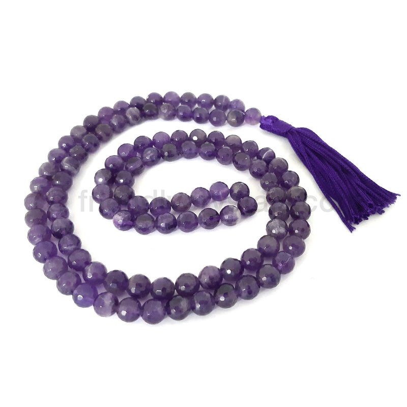 Amethyst Mala Faceted