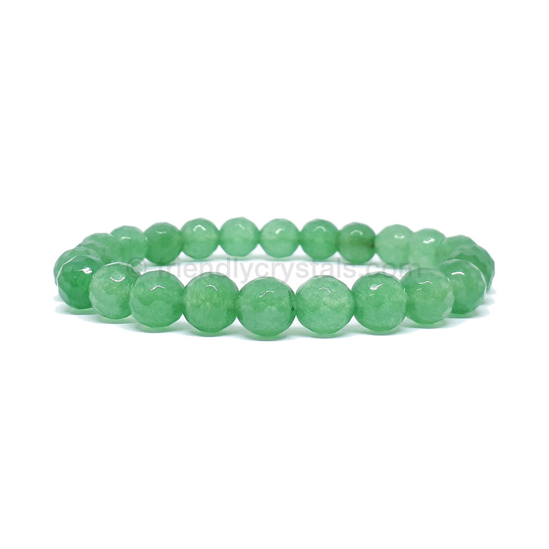 Aventurine Faceted Power Bracelet (8mm)
