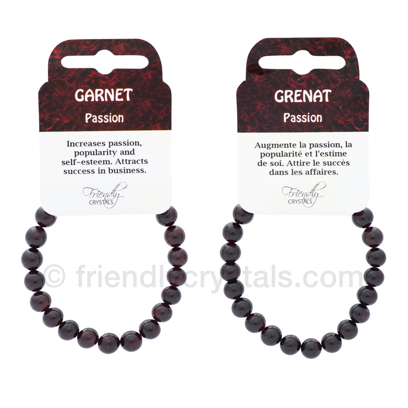 Garnet Power Bracelet (9 mm)