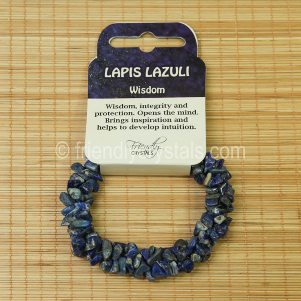 Lapis Chip Stretch Bracelet