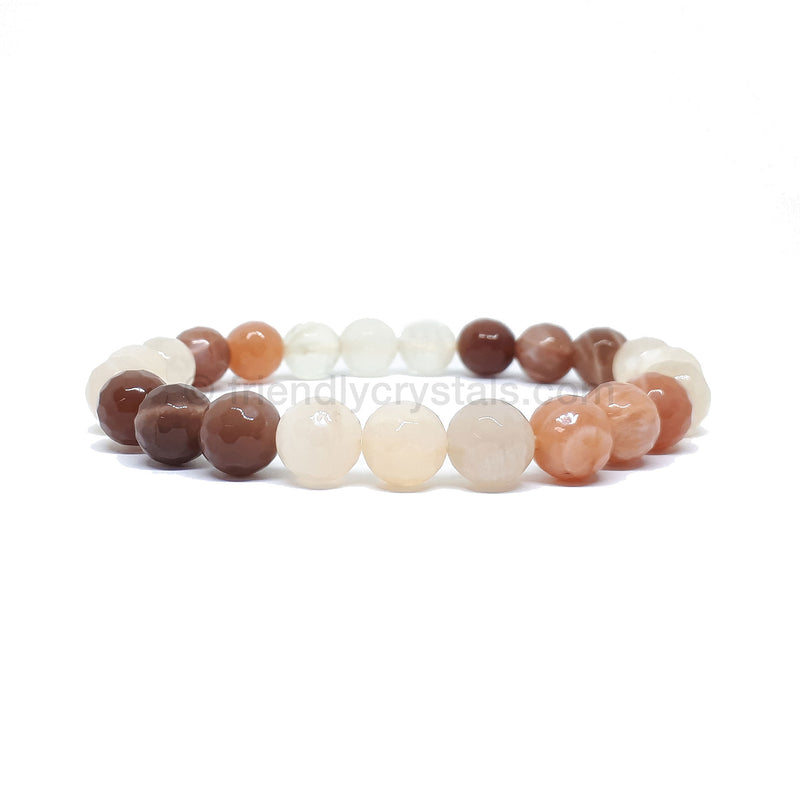 Multi -Colored Moonstone Faceted Power Bracelet (8mm)