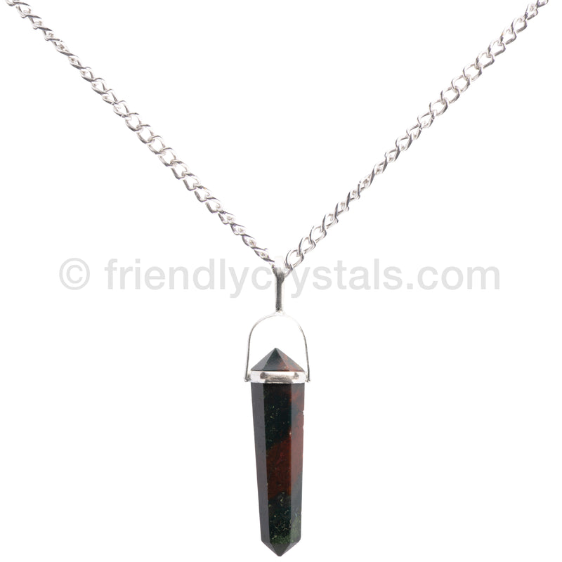 Bloodstone Pendant Double Terminated