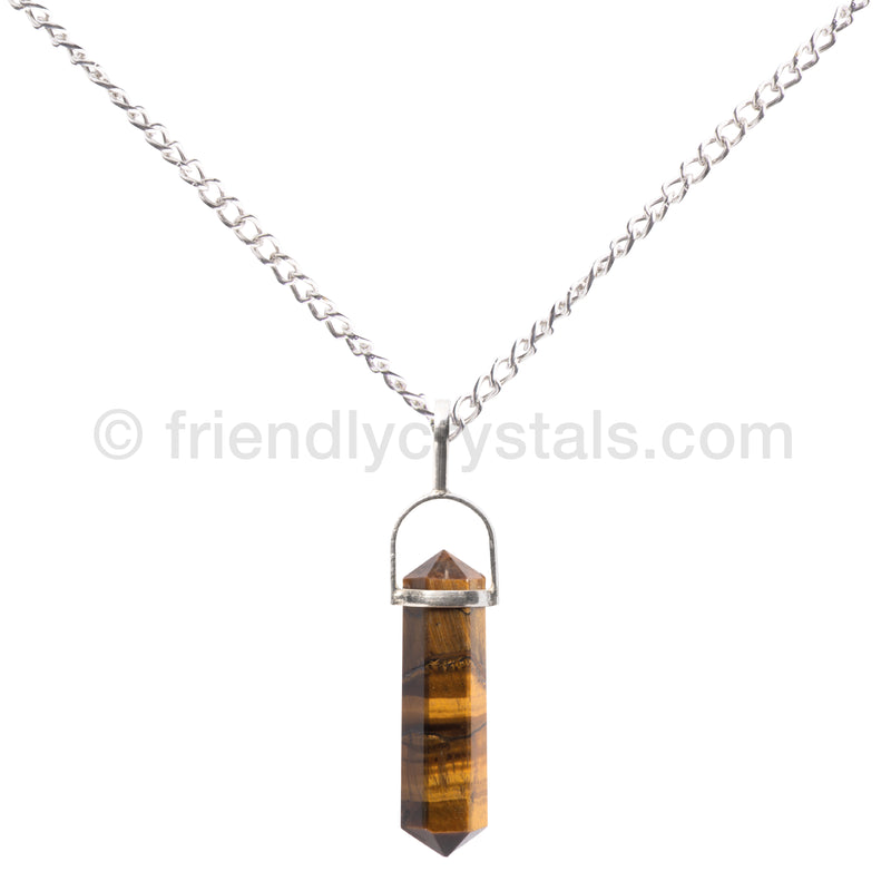 Tiger Eye Pendant Double Terminated