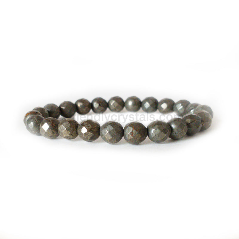 Pyrite Faceted Power Bracelet (8mm)
