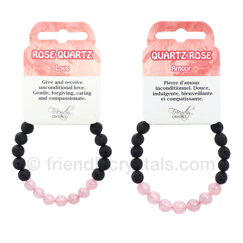 Rose Quartz Lava Bracelet