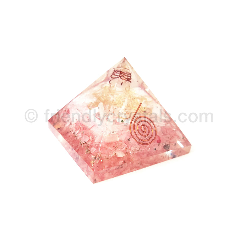Rose Quartz Metatron Pyramid 70 mm